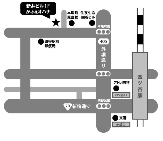 かふぇオハナの地図